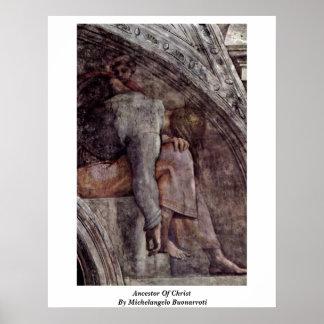 Ancestor Of Christ By Michelangelo Buonarroti Print