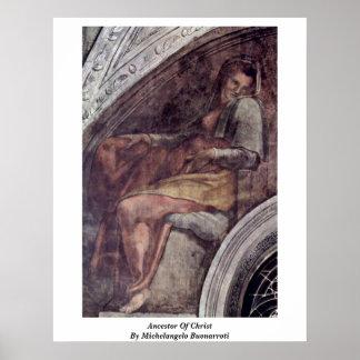 Ancestor Of Christ By Michelangelo Buonarroti Posters