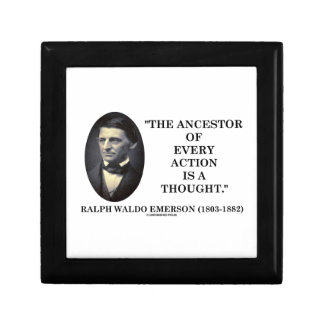 Ancestor Of Every Action Is A Thought (Emerson) Small Square Gift Box