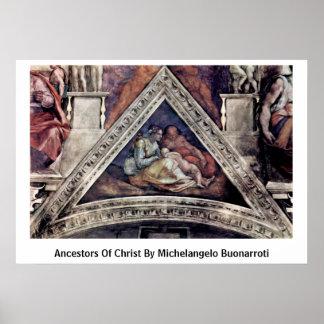 Ancestors Of Christ By Michelangelo Buonarroti Posters