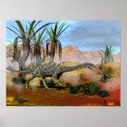Anchisaurus dinosaurs - 3D render Poster