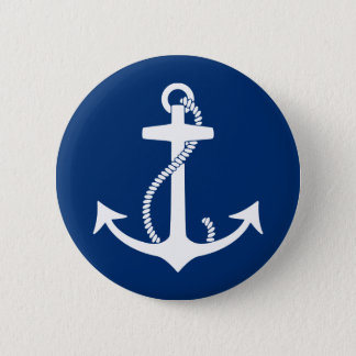 Anchor 6 Cm Round Badge