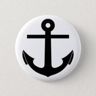 Anchor 6 Cm Round Badge