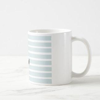 Anchor and Beach Hut Blue Stripes Coffee Mug