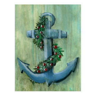 Anchor and Garland Postcard