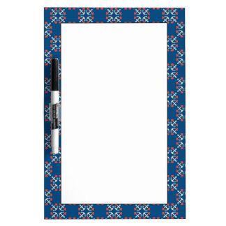 Anchor And Heart Pattern Dry Erase Board