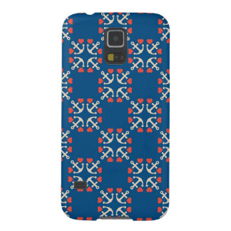 Anchor And Heart Pattern Galaxy S5 Cases
