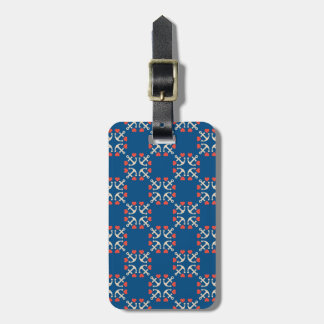 Anchor And Heart Pattern Luggage Tag