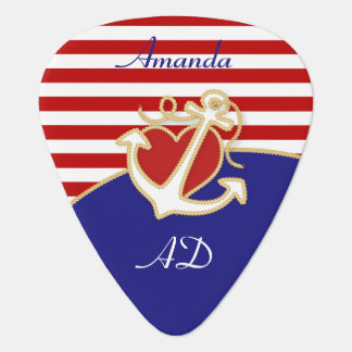 Anchor and Heart Plectrum