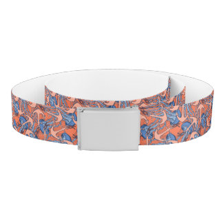 Anchor And Jellyfish Pattern Belt
