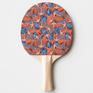 Anchor And Jellyfish Pattern Ping Pong Paddle