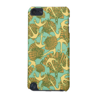Anchor And Shells In Vintage Style Pattern iPod Touch (5th Generation) Cover