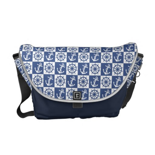 Anchor and Ship's Wheel Commuter Bags
