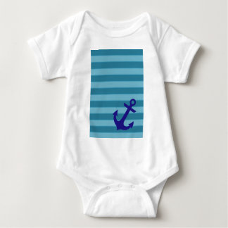 Anchor and Stripes Baby Bodysuit
