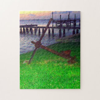 Anchor at Sunset Jigsaw Puzzle