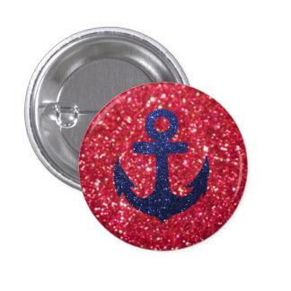 Anchor. 3 Cm Round Badge