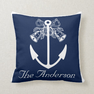 anchor beach wedding custom Name Cushion