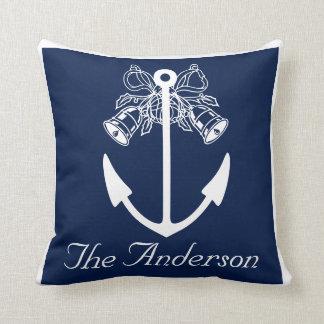 anchor beach wedding custom Name Cushion
