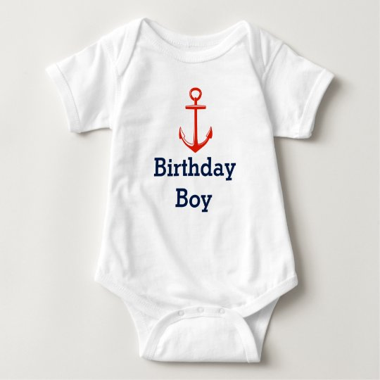 Anchor -Birthday boy shirt - Customise