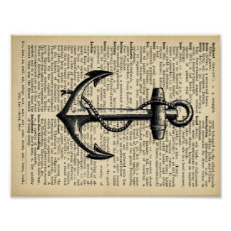 Anchor Book Page Art Poster