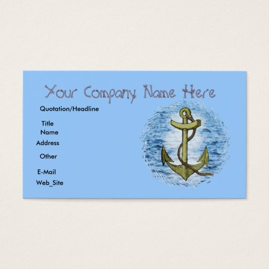 Anchor,business card