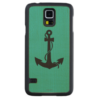 Anchor Carved Maple Galaxy S5 Case
