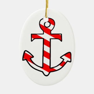 Anchor Ceramic Oval Decoration