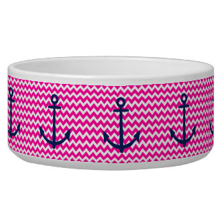 Anchor Chevron Nautical Pink and Navy