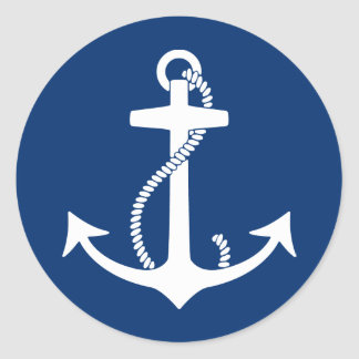 Anchor Classic Round Sticker