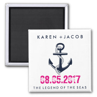 Anchor Cruise Ship Wedding Favor Magnets