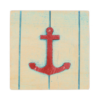 Anchor Décor Wood Coaster