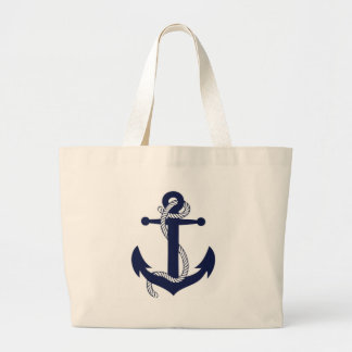 Anchor design tote bags