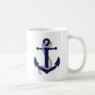 Anchor design basic white mug