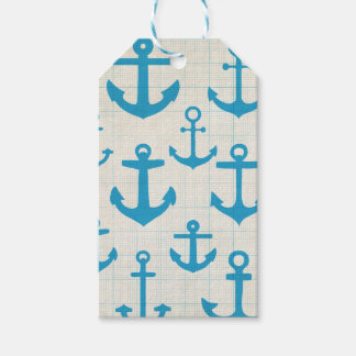 Anchor design gift tags