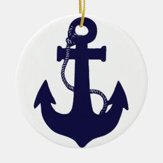 Anchor design round ceramic decoration