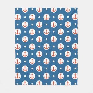 Anchor Dots Fleece Blanket