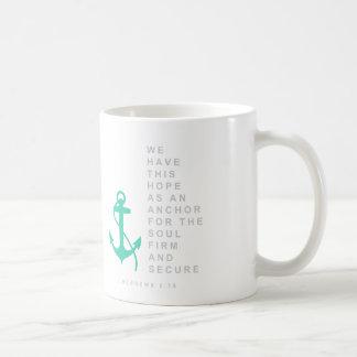 Anchor for the Soul (Hebrews 6:19) Basic White Mug