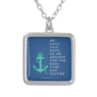 Anchor for the Soul (Hebrews 6:19) Square Pendant Necklace