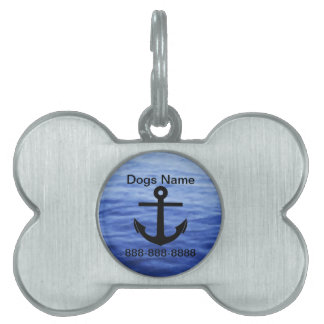 Anchor Graphic to personalize Pet ID Tag