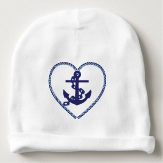 Anchor heart baby beanie cap