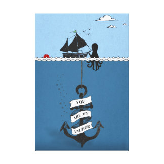 Anchor Illustration Canvas Print