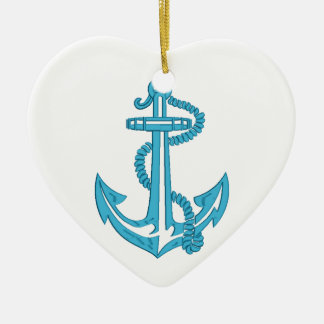 anchor - imitation of embroidery christmas ornament
