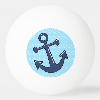 Anchor in the Waves Ping Pong Ball