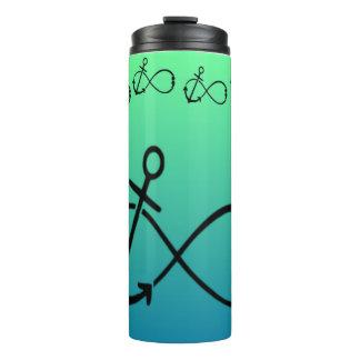 Anchor, Infinity & semi-colon Tumbler cup blu/grn Thermal Tumbler