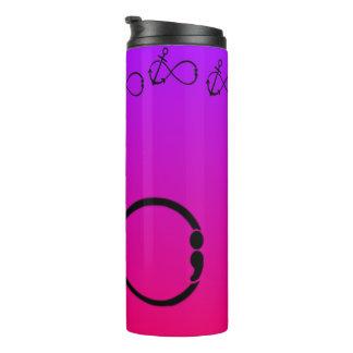 Anchor, Infinity & semi-colon Tumbler cup pur/pnk Thermal Tumbler