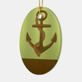 Anchor Lights Ceramic Oval Decoration