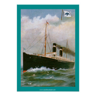 Anchor Line Steamship Poster