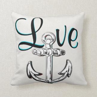 Anchor Love  nautical  beach cottage decor pillow