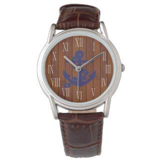 Anchor marinates blue watch