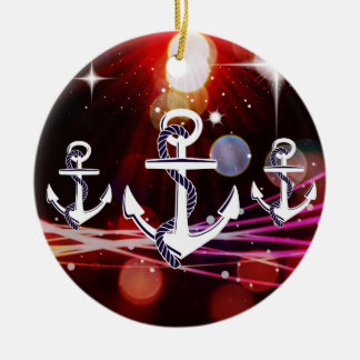 Anchor Me to the Stars Nautical Abstract Design Christmas Ornament